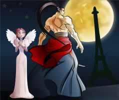Lucille and the monster in Paris by Pepe09