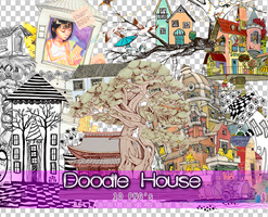 Doodle House PNGs by Bellacrix