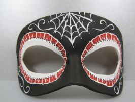 Reverse Day of the Dead red mask by maskedzone