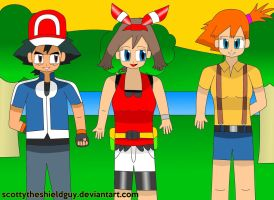 Ash and Friends Get's another Sunset Friendship by scottytheshieldguy
