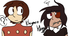 The Neverhood- Human Klogg and Klaymen by RainingCrayons