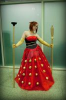 Red Dalek Queen by AkraruPhotography