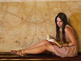 Staci - book/marble by Adrienmcguire