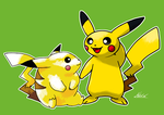 Pikachu's Evolution through Time by Tropiking