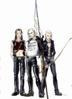 Lorien Lads in Black Leather by Pika-la-Cynique