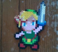 Link from Legend of Zelda made from Perler beads by yolei-s