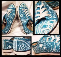 Turquoise Shoes Woooooo by Star-Blossom-Shoppe