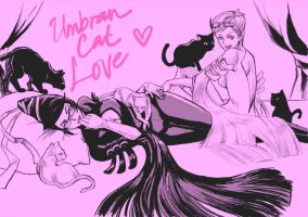 Umbran Cat Love by MondoArt