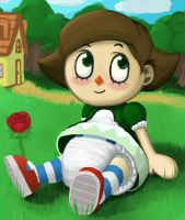 Silly Little Villager by Pizzabagel