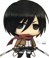 SNK - Mikasa Ackerman - Chibi by Amistrated