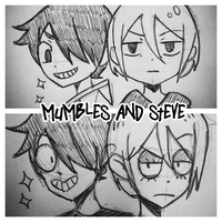 OCs -- Mumbles and Steve style experiment by Lily-Draws