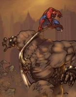 Rhino Vs Spidey by jets