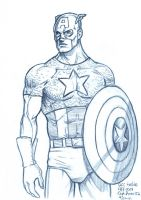 Daily Sketches Captain America by fedde