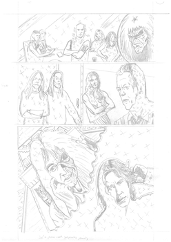 Iron Maiden page 18 pencils by DarrenEmond