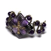 Purple Amethyst Bracelet by CatherinetteRings