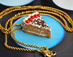 Strawberry Cake Necklace by Madizzo
