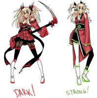 Akemi Konai Dark and Strong Append by rockleeofthesand