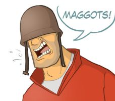 TF2 Headshots: Soldier by Calick