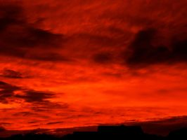 Fiery Sunset #12 Lava Blanket by superSeether