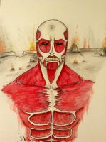SnK: Colossal Titan by HaleyKlineArt