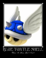 Blue Turtle Shell by Mechanical-Menace