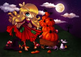 The Pumpkin Witch by ChildOfMoonlight