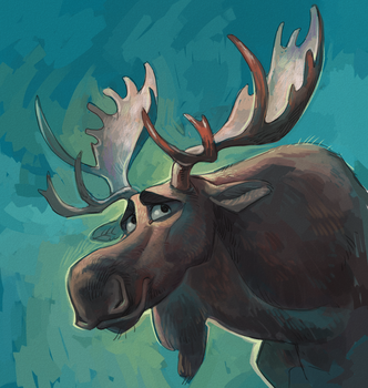 Moose by Drkav