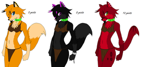 Female Anthro Adopts 1 - CLOSED by NoOneCaresAboutIt