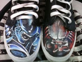 Alien versus predator shoes by K12RES