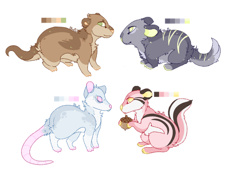 set-price rodents (open) by Adoptablue