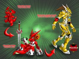 Ryudramon Evolution line by DracoLicoi