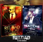 PSD Reload Flyer Bundle - 2in1 by retinathemes