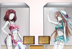 Kallen and Shirley - Mannequins in Display Cases by adi1625