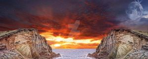 Premade Background Sunset by piaglud