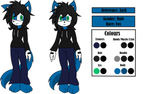 C:: Zach Reference (Sonic) by CutesieArt