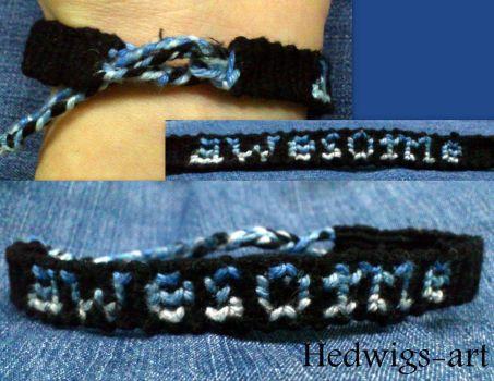 Awesome bracelet (Day 48) by Hedwigs-art