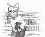Inktober Day 05 Business Cat by MTToto