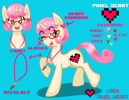 Pixel Heart Reference Sheet 2013 by ladypixelheart
