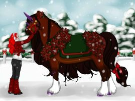 Winter Event Halter Entry by DragonsFlameMagic
