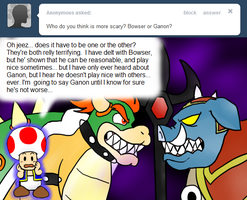 Ask Toad - Who's Scarier? by pocket-arsenal