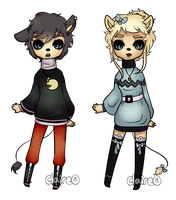Kenonomimi Mice Couple Adopts: OPEN by claire-face