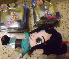 .:Sell:. 2 inch Sonic and Tails and Vanellope by SEGAMew