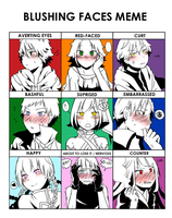 Blushing Faces Meme by Andressina