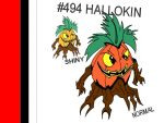 FakePKMN: Hallowed Pumpkin by CrimsonVampiress