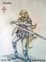 Claymore: Cynthia by theEmperorofShadows