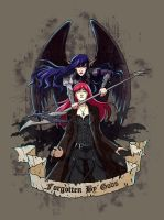 T-Shirt print - Arela and Sonya by fantazyme