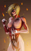 The Female Titan by Akadafeathers