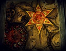 steampunk flower by paintingmama