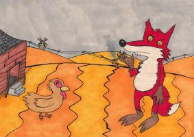 Down to the chicken farm by Scurrow
