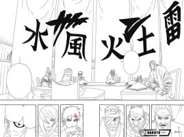 457 - Kages Meeting - Lineart by Sahil69